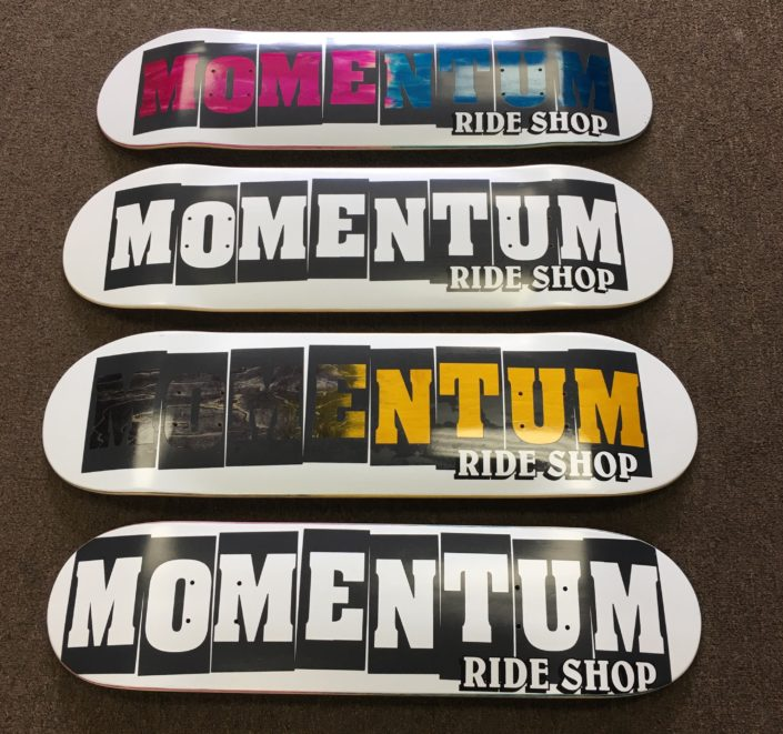 Momentum Ride Shop skateboard decks